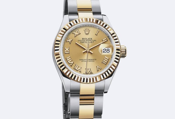 Rolex Lady-Datejust 28 Rolesor jaune