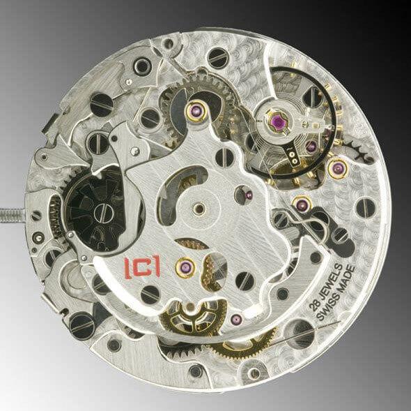 Mouvement Concepto C2000 à roues à colonnes © Concepto Watch Factory