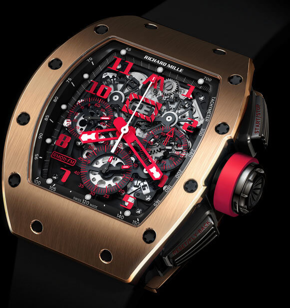 Richard Mille RM016 en or rouge, modèle spécial pour la boutique Marcus de Old Bond Street à Londres © Richard Mille