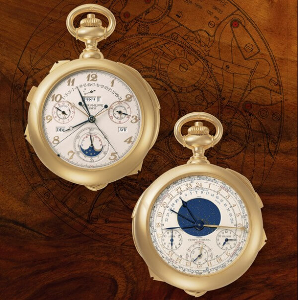 Antiquorum Celebrating 35 Years of Making History in Time : lot 364, Patek Philippe Calibre 89 de la collection Matsuda © Antiquorum