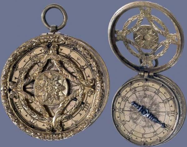 Montre « tambour » en laiton. Sud de l'Allemagne, vers 1560. Signée «MS» © Trustees of the British Museum