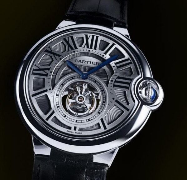 Ballon Bleu de Cartier tourbillon volant or gris, calibre 9452 MC © Cartier