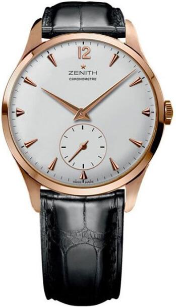 Le verre et le boîtier légèrement bombés, ainsi que le cadran minimaliste confèrent à la Zenith Vintage 1955 un style authentique.