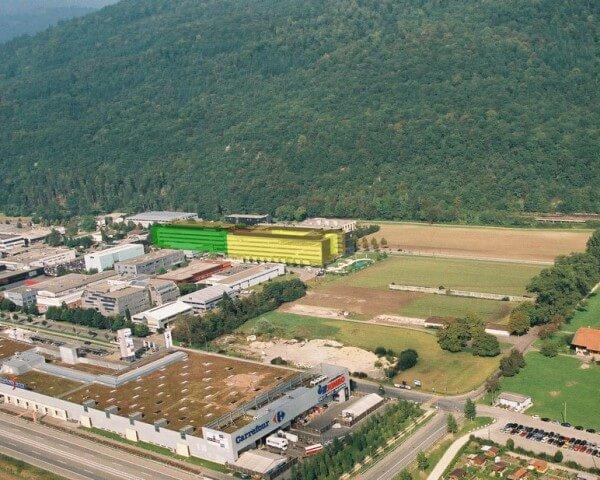 Rolex a acheté une parcelle de terrain de 46'000 mètres carrés adjacente aux bâtiments IV et VI © Rolex
