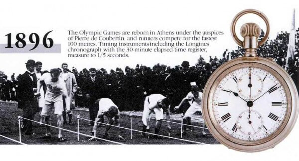 En 1896, Longines est le chronométreur officiel pour les Jeux olympiques d'Athènes © Longines