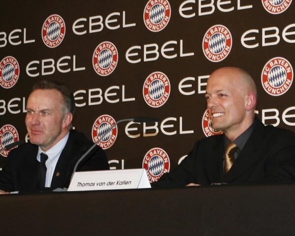 Karl-Heinz Rummenigge, président du FC Bayern de Munich et Thomas van der Kallen, président d'Ebel © Ebel