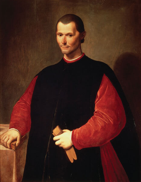 Portrait posthume de Nicolas Machiavel (1469-1527) par Santi di Tito