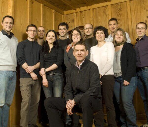Jean-François Mojon (au centre) et son équipe © Harry Winston