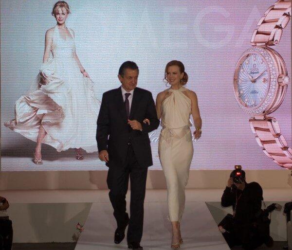 Nicole Kidman est venue accompagner le CEO Stephen Urquhart à Pékin pour ce lancement de première importance pour Omega © Omega