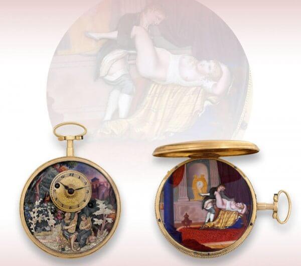 Lot 187: pièce du Genevois Henry-Daniel Capt «Musique d'amour», 1810, est. CHF 70'000-90'000 francs. Adjugée: CHF 200'500 en Chine © Antiquorum