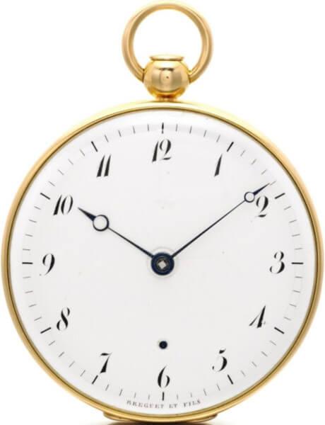 Lot 74 : montre de poche répétition à minutes signée Breguet créée en 1813 pour Caroline Bonaparte Murat, reine de Naples ; est. CHF 60'000-80'000 © Sotheby's