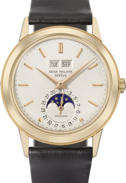 Lot 88 : Patek Philippe réf. 3448 en or rose de 1968 © Christie's
