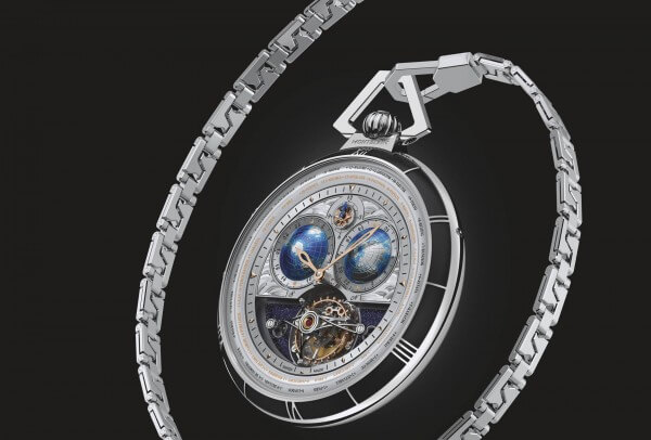 Montblanc Collection Villeret Tournillon Cylindrique Pocket Watch & Navigator 110 Years Edition