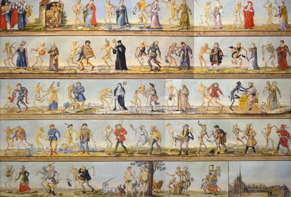 La Danse macabre de Bâle © Musée historique de Bâle