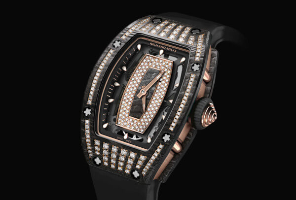 SIHH Richard Mille RM 07-01 carbone NTPT serti