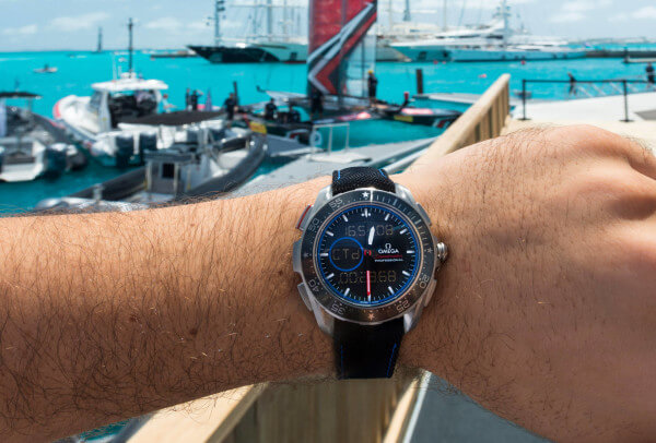 Omega Seamaster Planet Ocean « Deep Black » GMT 35th America's Cup ETNZ
