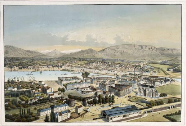 Genève, vers 1860-1861