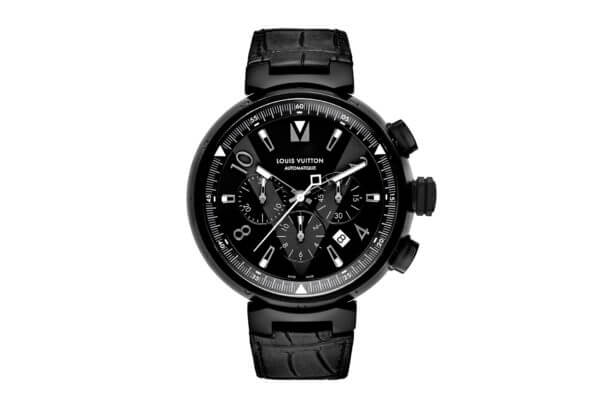 Tambour All Black chronographe © Louis Vuitton