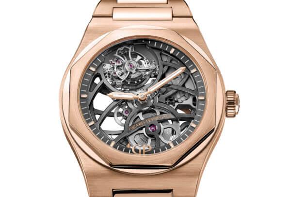 Laureato Flying Tourbillon Skeleton en or rose © Girard-Perregaux