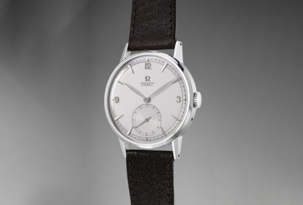 Omega Prototype Tourbillon, une montre-bracelet unique en acier (Lot 182)