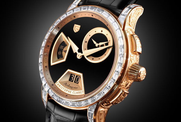 Adagio en or rose sertie © Christophe Claret