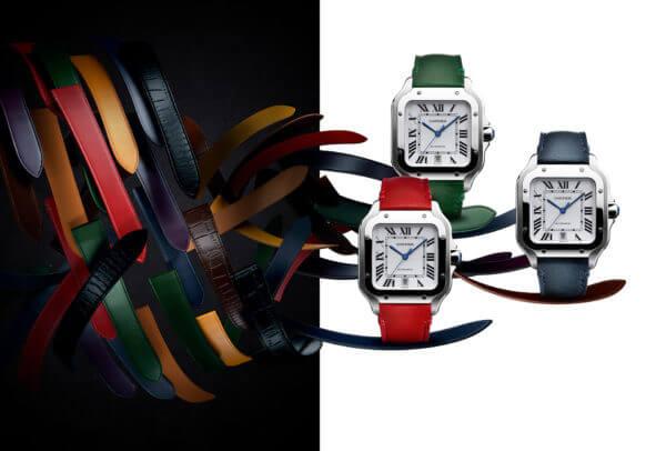 La nouvelle collection Santos dévoilée au SIHH 2018 est proposée avec deux bracelets interchangeables