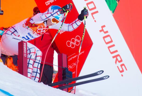 Portillon de départ actuellement utilisé pour le ski alpin