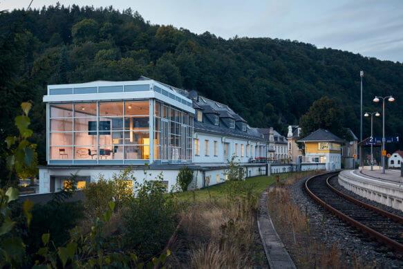Gare de train Nomos Glashütte