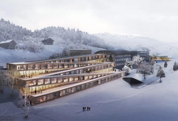 Représentation 3D du nouvel Hôtel des Horlogers