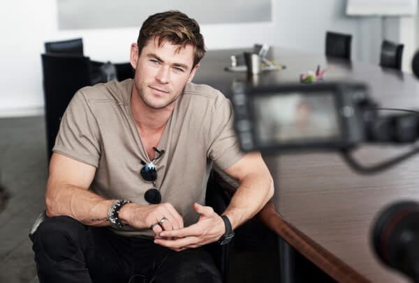 Chris Hemsworth, acteur australien, ambassadeur de TAGHeuer depuis 2015