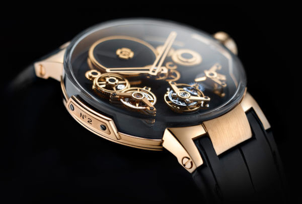 Tourbillon « Free Wheel » en or rose © Ulysse Nardin