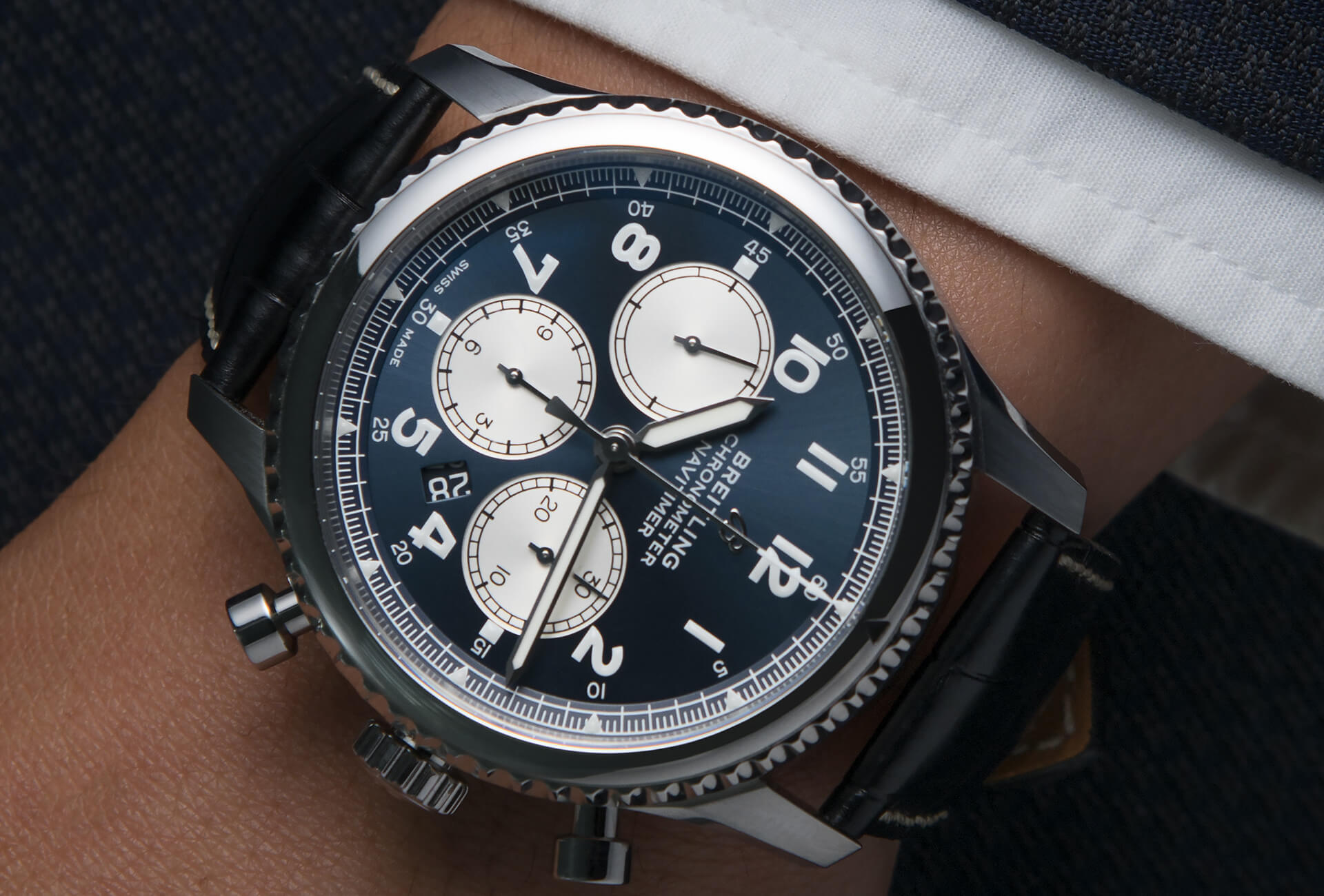 337ee609b6b In the metal: the Breitling Navitimer 8 B01 Chronograph 43 – FHH Journal