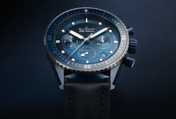 Fifty Fathoms Bathyscaphe Bucherer Blue Editions © Blancpain
