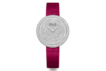 Montre Possession – 34 mm, boîtier en or blanc 18 carats serti de 181 diamants taille brillant, cadran pavé de 239 diamants sertis © Piaget