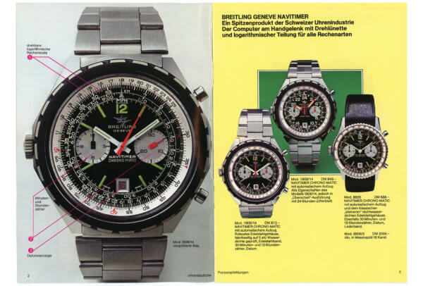 Catalogue 1977-1978 © Breitling