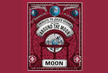 Affiche «150 years around the moon» © Louis Moinet