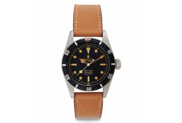 Christie's ventes de NewYork: Rolex Oyster Perpetual Submariner Référence6538, env.1957, lot73 vendu pour 492'500dollars