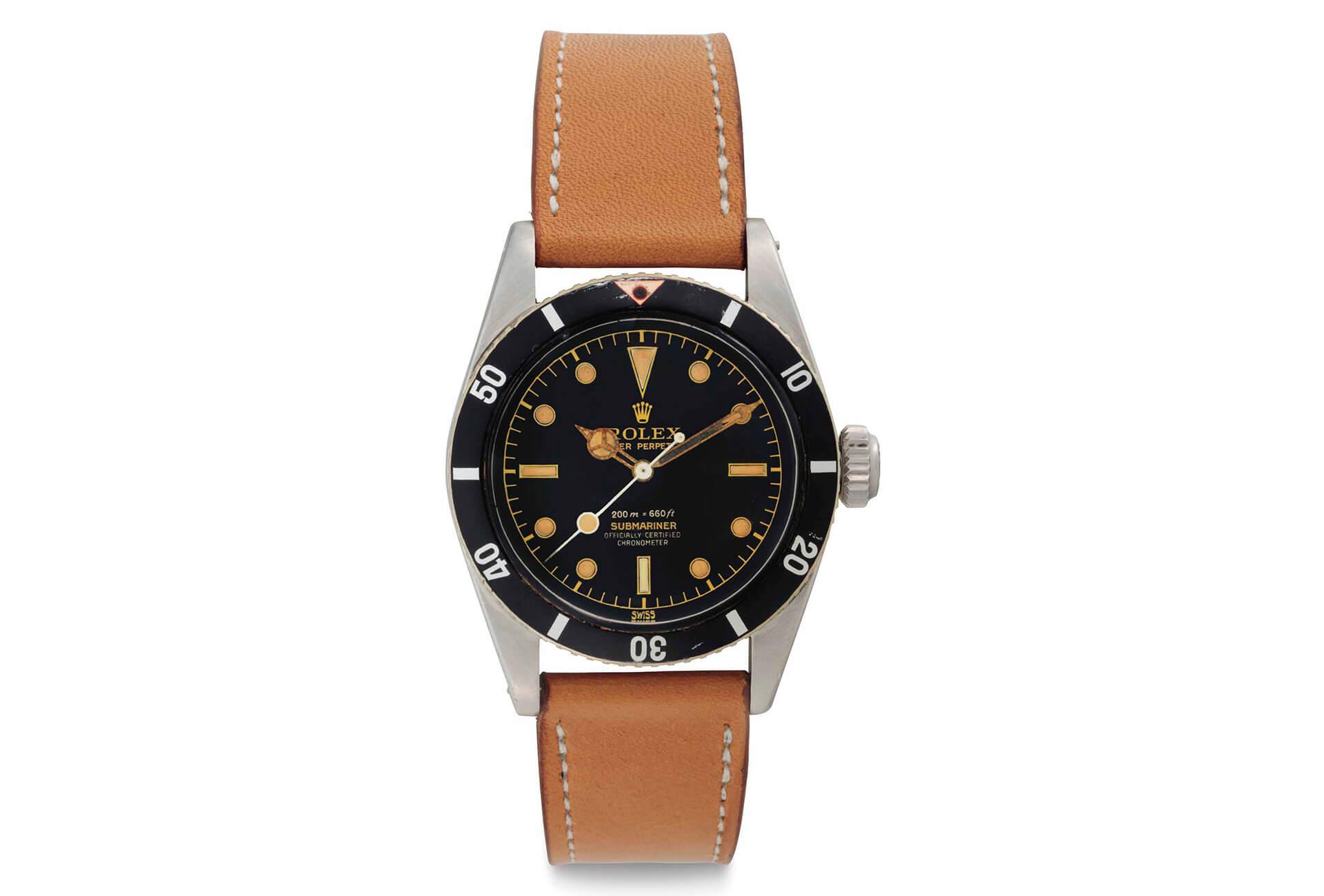 f66cce246d3 Christie s ventes de New York   Rolex Oyster Perpetual Submariner Référence  6538