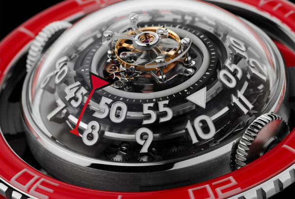 Horological Machine N°7 Platinum Red © MB&F