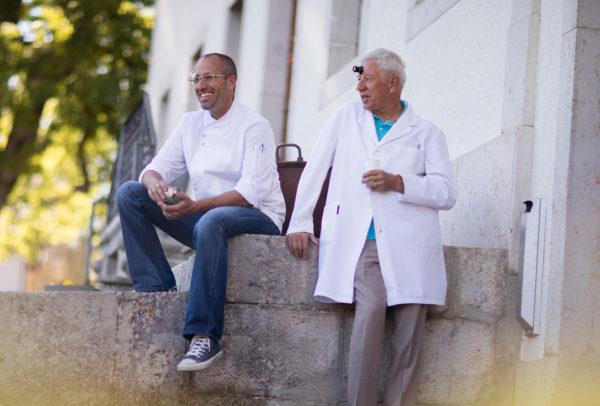 David Candaux et Daniel Candaux, son père et partenaire pour les créations D.Candaux