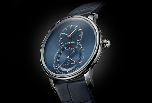 Grande Seconde Quantième satin brushed blue © Jaquet Droz