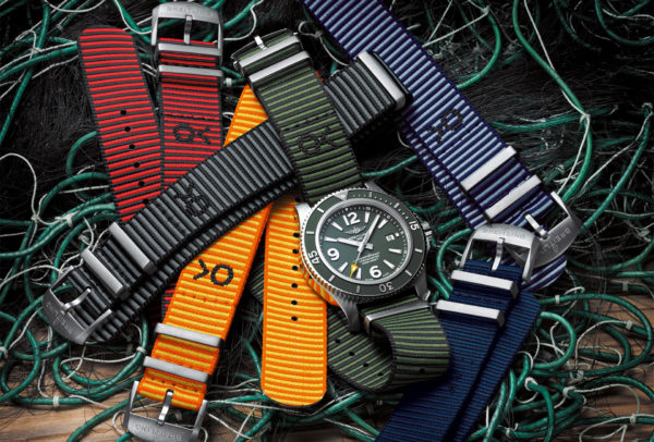 Collection de bracelets Superocean Outerknown et Outerknown Econyl Nato © Breitling
