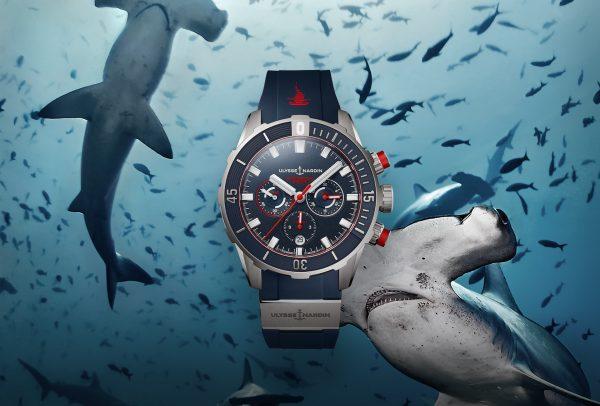 Diver Chronograph Hammerhead Shark Limited Edition © Ulysse Nardin
