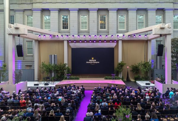 Cérémonie de remise des Prix Rolex à l'esprit d'entreprise au musée Smithsonian de Washington le 14juin2019 – © Rolex/Daniel Swartz