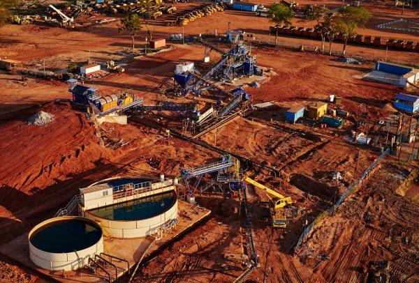 Vue aérienne du plan de traitement - MRM Mozambique © Gemfields