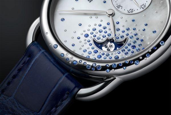 Arceau Petite Lune Jeté de diamants et saphirs © Hermès