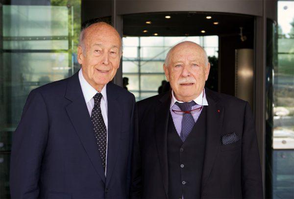 Valéry Giscard d'Estaing et Franco Cologni